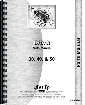 Clark 30 40 50 Forklift Parts Manual Catalog