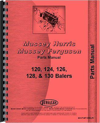 Massey Ferguson 120 124 126 128 130 Baler Parts Manual Mh-p-mf120blr