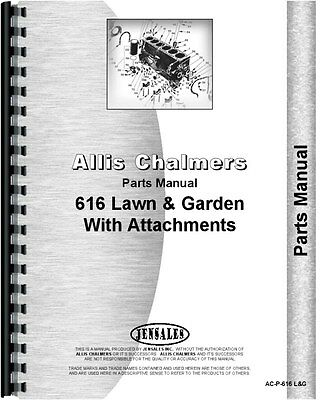 Allis Chalmers 616 Lawn Garden Tractor Parts Manual Ac-p-616 Lg