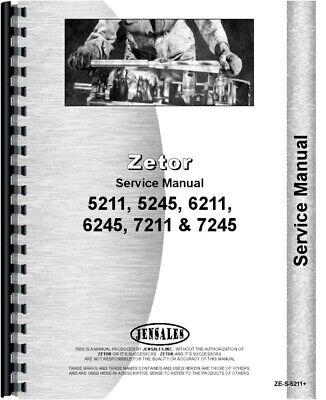 Zetor 5211 6211 7211 5245 6245 7245 Tractor Service Repair Manual na sprzedaż  Wysyłka do Poland
