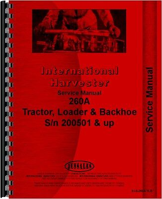 International 260a Industrial Tractor Service Manual Ih-s-260a Tlb