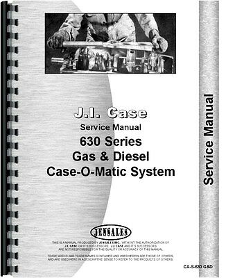 Case 630 Tractor Service Manual Transmission And Rear Axle Only Ca-s-630 Gd