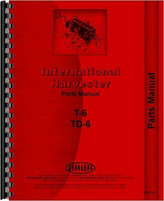 International Harvester Crawler Parts Manual Ih-p-t6