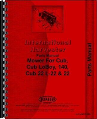 Ih International Cub Tractor 22 Sickle Bar Mower Parts Manual Catalog