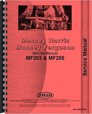 Massey Ferguson 203 205 Industrial Tractor Service Manual Mh-s-mf203205