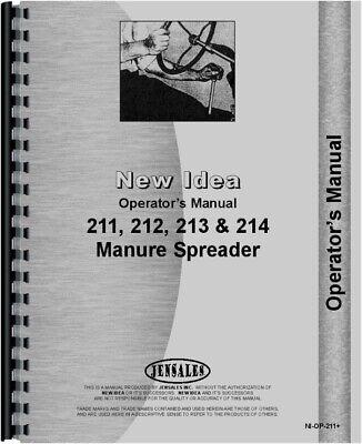 New Idea 213 211 214 212 Manure Spreader Parts Operators Manual
