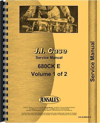 Case 680e Tractor Loader Backhoe Service Manual
