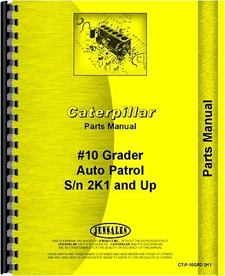 Caterpillar 10 Grader Parts Manual Sn 2k1 And Up