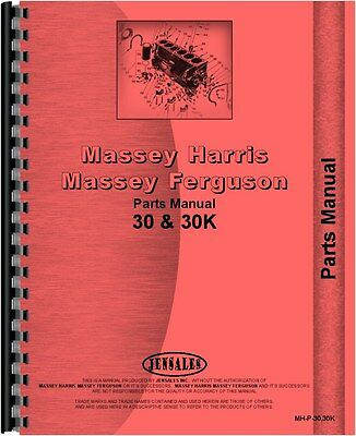 Massey Harris Tractor Parts Manual 30 30k Tractor Mh-p-3030k