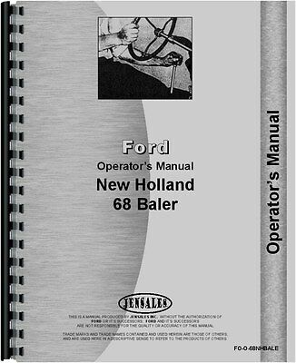New Holland 68 Baler Operators Manual Fo-o-68nhbale
