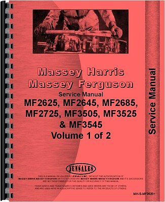 Massey Ferguson 2625 2645 2685 3505 3525 Tractor Service Manual Mh-s-mf2625