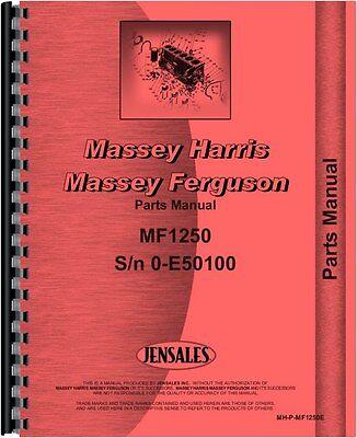 Massey Ferguson 1250 Tractor Parts Manual Sn 0 - E50100 Mh-p-mf1250e