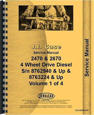 Case 2470 2670 Tractor Diesel 4 Wheel Drive Service Manual Ca-s-2470late