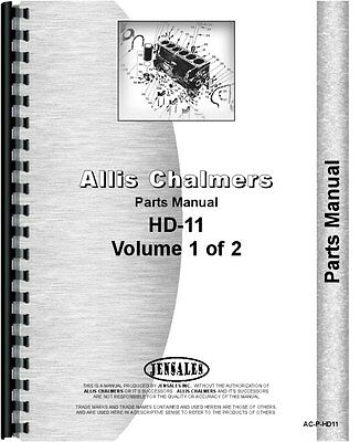 Allis Chalmers Hd11 Series Sn 0-12201 Crawler Parts Manual Ac-p-hd11