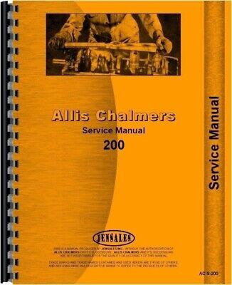 Allis Chalmers 200 Diesel Tractor Service Repair Manual