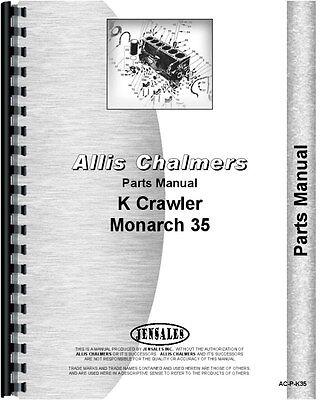 Allis Chalmers K-35 Crawler Parts Manual 1931