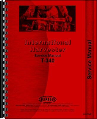 International Harvester T340a Td340 Crawler Service Manual Ih-s-t340