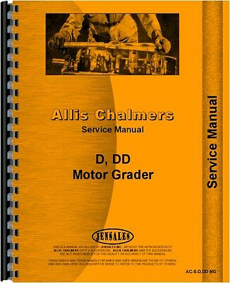 Allis Chalmers D Dd Diesel Motor Grader Chassis Service Manual Ac-s-ddd Mg