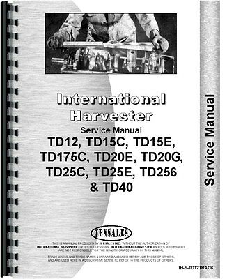 International Harvester Td12 Crawler Track Only Service Manual
