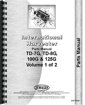 International Harvester Crawler Parts Manual Ih-p-td7g