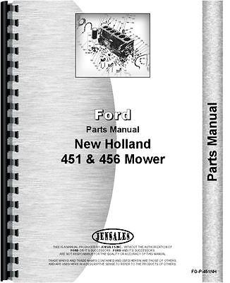 New Holland 451 456 Sickle Bar Mower Parts Manual Fo-p-451nh