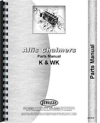 Allis Chalmers K Wk Crawler Parts Manual K Crawler 1946 Wk Crawler