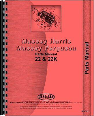 Massey Harris Tractor Parts Manual 22 Tractor 22k Tractor