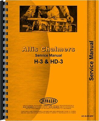 Allis Chalmers H3 Hd3 Crawler Service Manual Ac-s-h3hd3