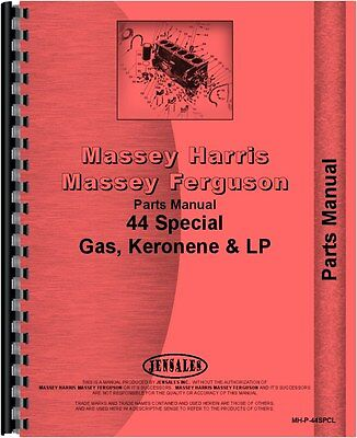 Massey Harris 44 Tractor Special Parts Manual Mh-p-44spcl