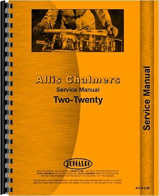 Allis Chalmers 210 220 Tractor Service Manual Ac-s-2-20