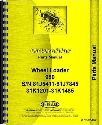 Caterpillar 950 Wheel Loader Parts Manual Sn 31k1201-31k1485
