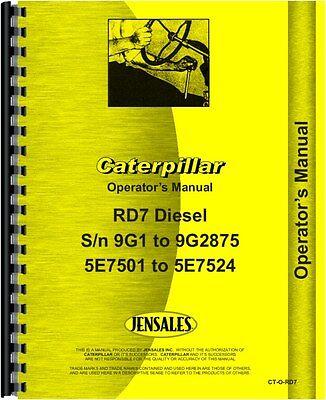 Caterpillar D7 D7e Crawler Parts Manual Sn 47a3396-47a5841