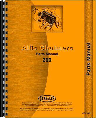 Allis Chalmers 200 Tractor Parts Manual