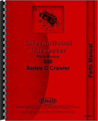 International Harvester 500c Crawler Parts Manual