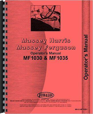 Massey Ferguson 1030 1035 Tractor Operators Manual Mh-o-mf1030