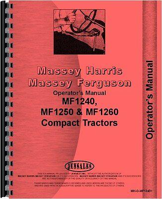 Massey Ferguson 1240 1250 1260 Tractor Operators Manual Mh-o-mf1240