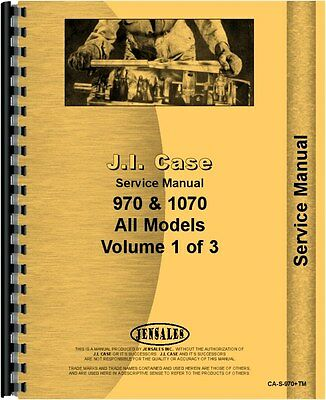 Case 1070 970 Agri King Tractor Service Manual Ca-s-970tm
