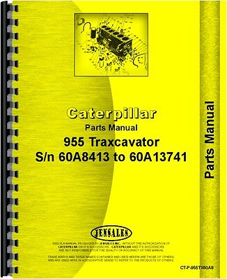 Caterpillar 955 Traxcavator Parts Manual Sn 60a8413-60a13741
