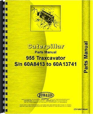 Caterpillar 955 Traxcavator Parts Manual Sn 60a8413-60a13741