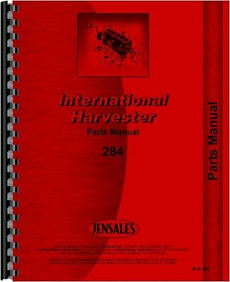 International Harvester 284 Tractor Parts Manual  Ih-p-284