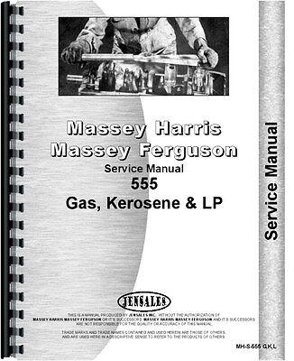 Massey Harris 555 Gas Kerosene Lp Tractor Service Manual Mh-s-555 Gkl