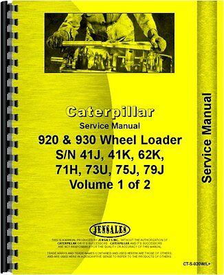 Caterpillar 920 930 Wheel Loader Service Manual