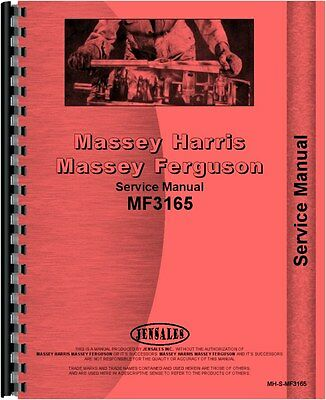 Massey Ferguson 3165 Industrial Tractor Service Manual Mh-s-mf3165