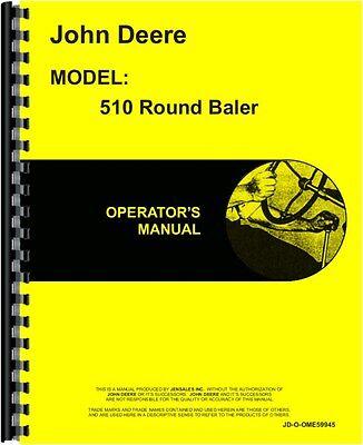 John Deere 510 Round Baler Operators Manual Jd-o-ome59945