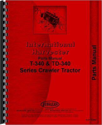 International Harvester Crawler Parts Manual Ih-p-td340