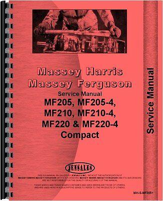 Massey Ferguson 205 210 220 Tractor Service Manual Mh-s-mf205