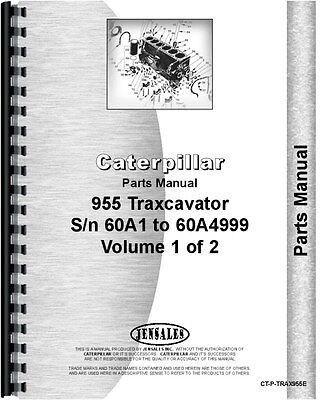 Caterpillar 955 Traxcavator Parts Manual Sn 60a1-60a4999