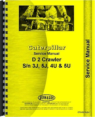 Caterpillar 933 Traxcavator Chassis D2 Crawler Service Manual Ct-s-d2 3j5j
