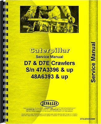 Caterpillar D7 D7e Crawler Service Manual Ct-s-d747a3396