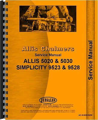 Allis Chalmers 5020 5030 Tractor Service Manual Ac-s-50205030